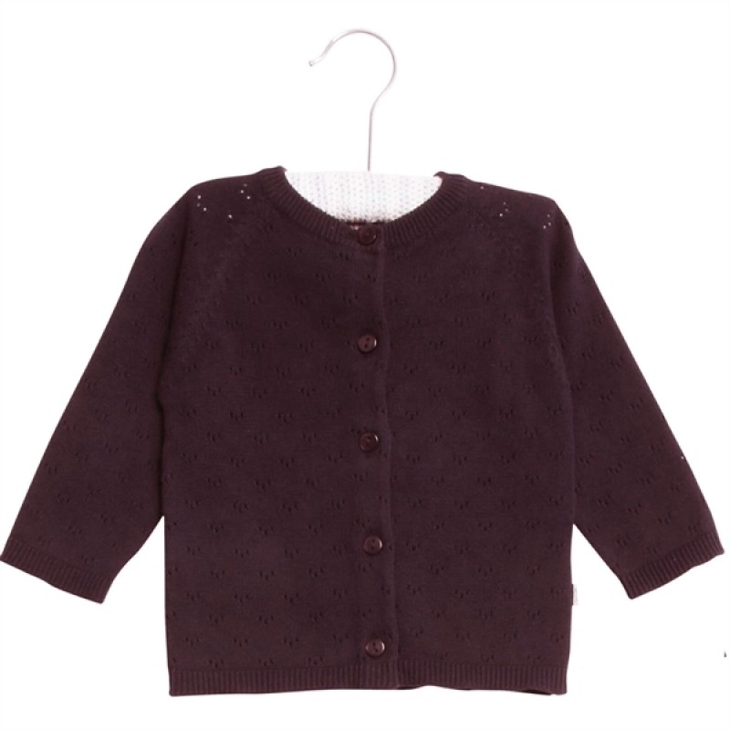 WHEAT Knit cardigan Maja Soft Eggplant-33