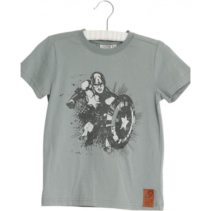 Sej Captain America T-shirt dusty green-31