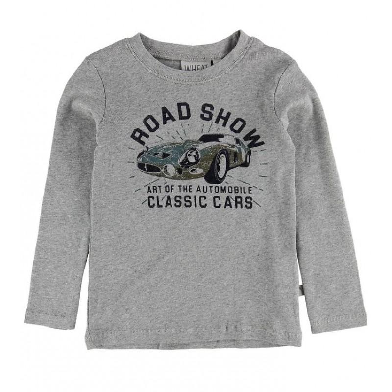 WHEAT T-shirt classic Melange grey-32