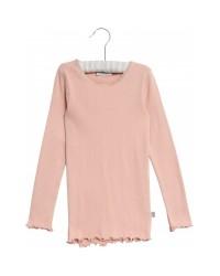 WHEAT Rib langærmet T-shirt Rose powder-20