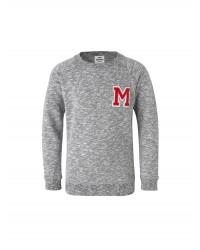 MADS NØRGAARD - Sweatshirt med rund hals - Starlina - grå