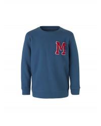 Sweatshirt med rund hals Solomino M blå-20