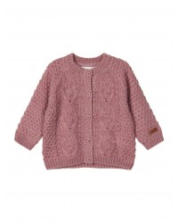NAME IT Kabelstrikket cardigan Card Rose-20