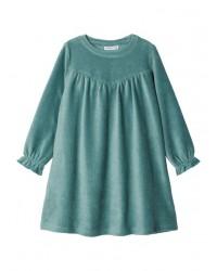 NAME IT Velour kjole i rib Grøn-20