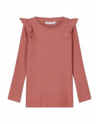 NAME IT langærmet T-shirt Rib Withered Rose-20
