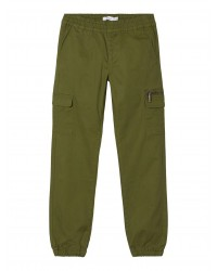 NAME IT -Bomulds-Twill Cargopants - Winther Moss