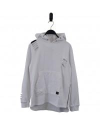 HOUND Sej hoodie med lynlåsdetalje hvid-20