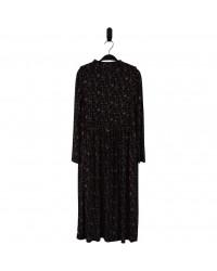 HOUND Lang kjole i transparent blomstret mønster-20