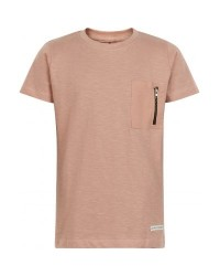 THE NEW T-shirt med pyntelomme Kenneth adobe rose-20