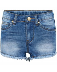THE NEW Denim shorts med frynser AGNES denim-20