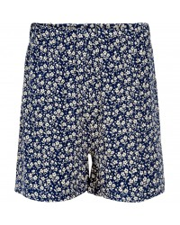 THE NEW KARLA SHORTS navy med råhvide blomster-20