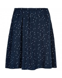 THE NEW Blødt skirt med lommer Kisa navy med hvide prikker-20