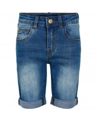 THE NEW Slim denim shorts med opslag-20
