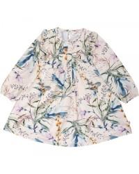 MÜSLI Langærmet kjole med flotte detaljer på bryst og ved skuldre Spicy Botany-20