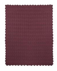 MÜSLI Strikket tæppe i flot mønster dusty berry-20