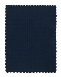 MÜSLI Strikket tæppe i flot mønster navy-20