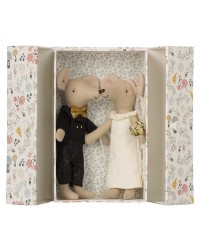 MAILEG Wedding mice couple in box-20