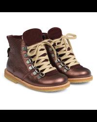 ANGULUS Vinterstøvler med lynlås og snøre bordeaux shine-20