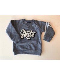 "PETIT BY SOFIE SCHNOOR SWEATSHIRT MED ""SKATE""-PLYS-BADGE LIGHT BLUE-20"