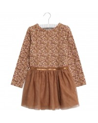 WHEAT Jersey tylkjole mathilde Caramel flowers-20