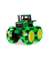 TOMY JOHN DEERE traktor monster treads Med lys i hjulene-20