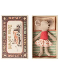 MAILEG Little sister mouse in box-20