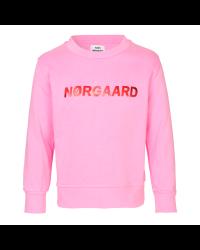 MADS NØRGAARD Sweatshirt med skinnende NØRGAARD print lyserød-20