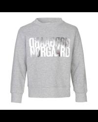 MADS NØRGAARD Sweatshirt med sølv NØRGAARD print grå melange-20