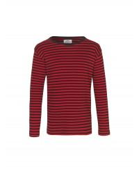 MADS NØRGAARD Tobino lang ærmet T-shirt Black/Red/Black-20