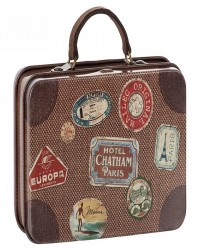 MAILEG Metal travel suitcase brun-20