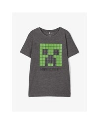 NAME IT T-shirt Minecraft Mørkegrå-20