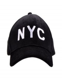 "PETIT BY SOFIE SCHNOOR CAP SORT VELOUR MED HVIDT ""NYC""-20"