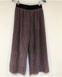 PETIT BY SOFIE SCHNOOR Plisseret culotte wide pants i lyslilla glimmer-20
