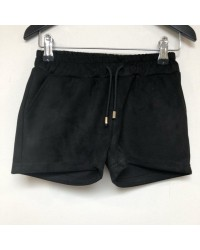 PETIT BY SOFIE SCHNOOR Shorts i ruskindslook sort-20