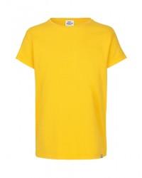 MADS NØRGAARD - Smart, klassisk T-shirt - solsikkegul