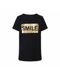 PETIT BY SOFIE SCHNOOR SMIL T-shirt sort med guldprint-20