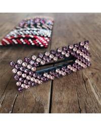 BOW´S BY STÆR Zoey krystalspænde Stripe Purple/rosa-20