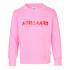 MADS NØRGAARD Sweatshirt med skinnende NØRGAARD print lyserød-01
