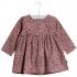Blomstret langærmet kjole Elvia rosa-01